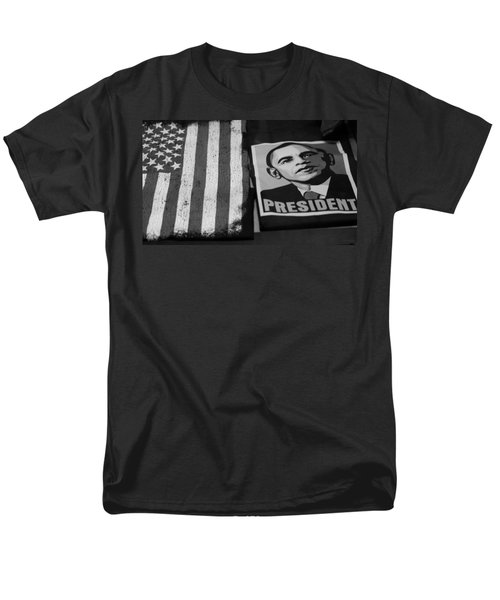 COMMERCIALIZATION OF THE PRESIDENT OF THE UNITED STATES OF AMERICA in BLACK AND WHITE  T-Shirt by ROB HANS