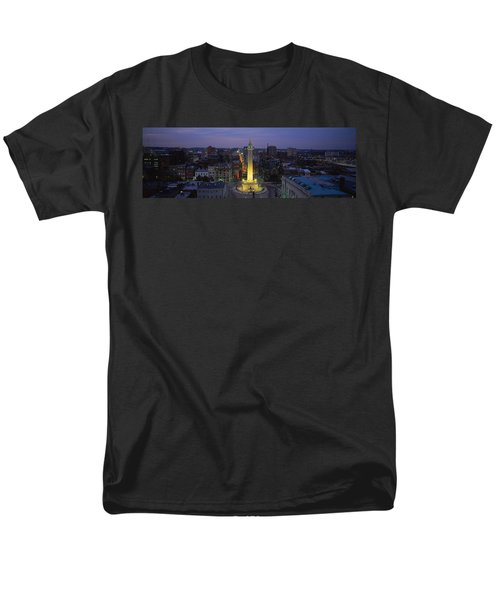 High Angle View Of A Monument Men's T-Shirt  (Regular Fit) by Panoramic Images
