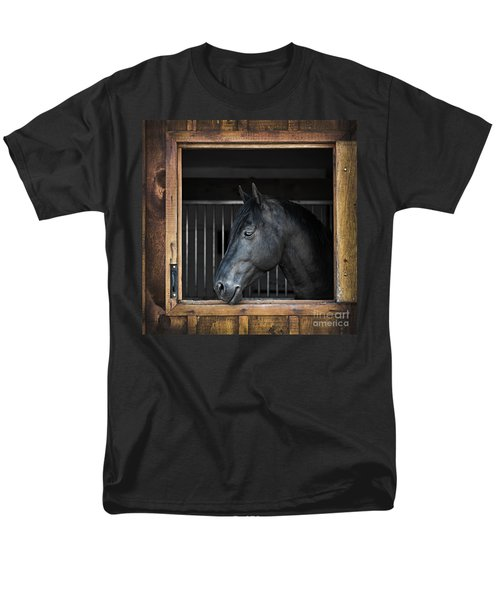 Horse in stable T-Shirt by Elena Elisseeva