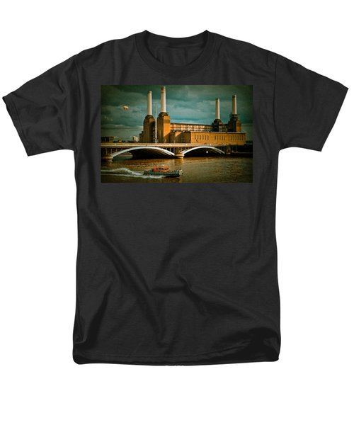 Pink Floyd Pig At Battersea Men's T-Shirt  (Regular Fit) by Dawn OConnor