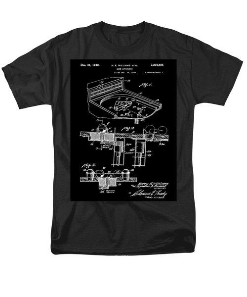 Pinball Machine Patent 1939 - Black Men's T-Shirt  (Regular Fit) by Stephen Younts
