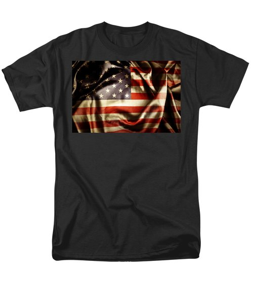 American flag  T-Shirt by Les Cunliffe