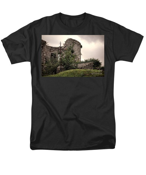 A Cross in the Ruins T-Shirt by Olivier Le Queinec