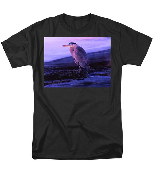 A Heron On The Moyie River Men's T-Shirt  (Regular Fit) by Jeff Swan