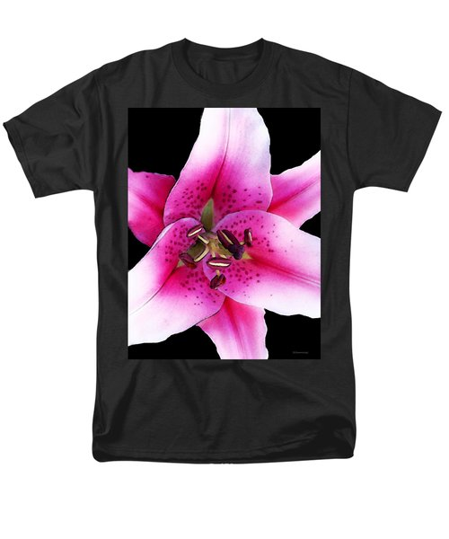 A Star Is Born - Pink Stargazer Lily by Sharon Cummings T-Shirt by Sharon Cummings