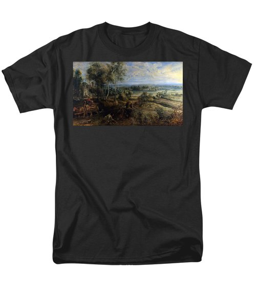 A View Of Het Steen In The Early Morning T-Shirt by Peter Paul Rubens