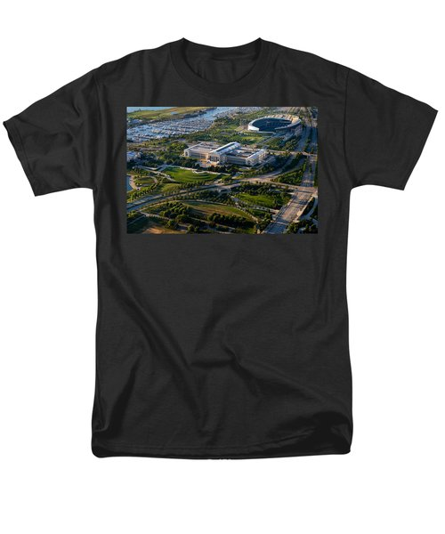Aerial View Of The Field Museum Men's T-Shirt  (Regular Fit) by Panoramic Images