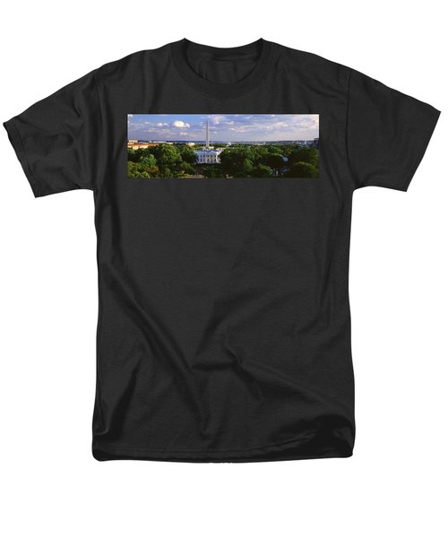 Aerial, White House, Washington Dc Men's T-Shirt  (Regular Fit) by Panoramic Images