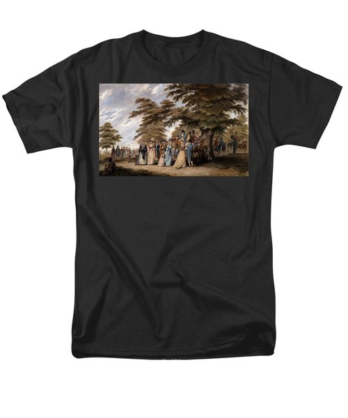 An Airing In Hyde Park, 1796 Men's T-Shirt  (Regular Fit) by Edward Days