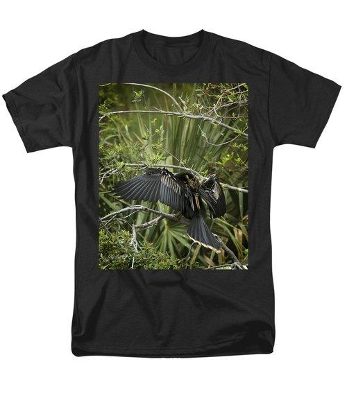 Anhinga Papa Men's T-Shirt  (Regular Fit) by Phill Doherty