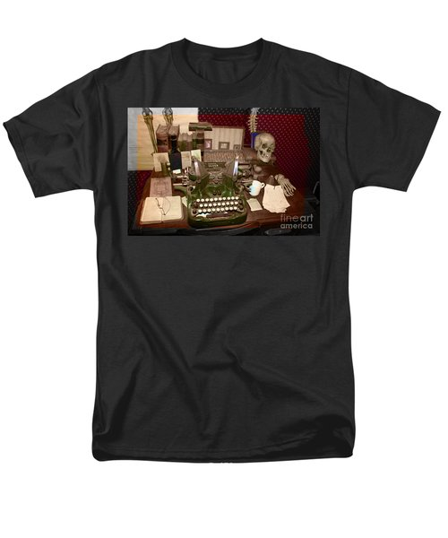 Antique Oliver Typewriter on Old West Physician Desk T-Shirt by Janice Rae Pariza