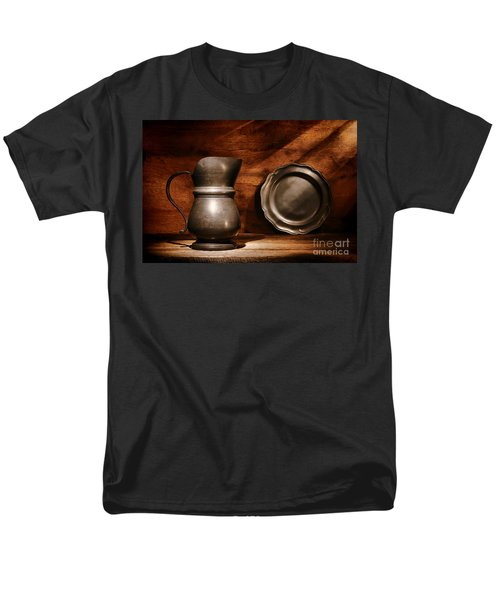 Antique Pewter Pitcher and Plate T-Shirt by Olivier Le Queinec