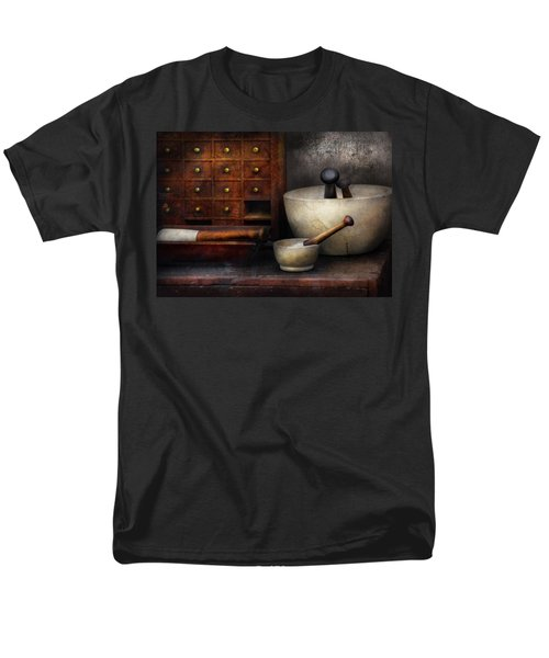 Apothecary - Pestle and Drawers T-Shirt by Mike Savad