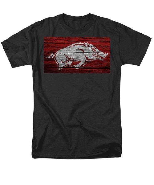 Arkansas Razorbacks On Wood Men's T-Shirt  (Regular Fit) by Dan Sproul
