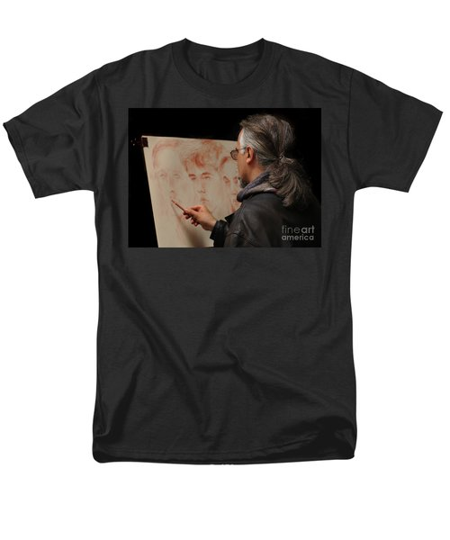 Artist At Work Florence Italy T-Shirt by Bob Christopher