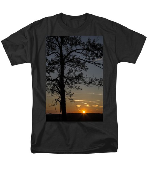 As The Sun Fades Behind The Mountian T-Shirt by Karol  Livote
