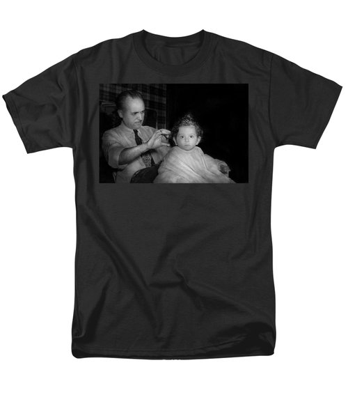 Barber - First Haircut T-Shirt by Mike Savad