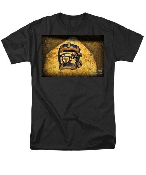 Baseball Catchers Mask Vintage  T-Shirt by Paul Ward