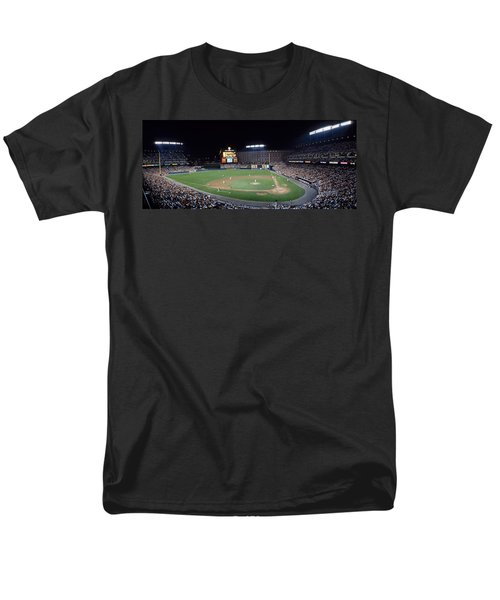 Baseball Game Camden Yards Baltimore Md Men's T-Shirt  (Regular Fit) by Panoramic Images