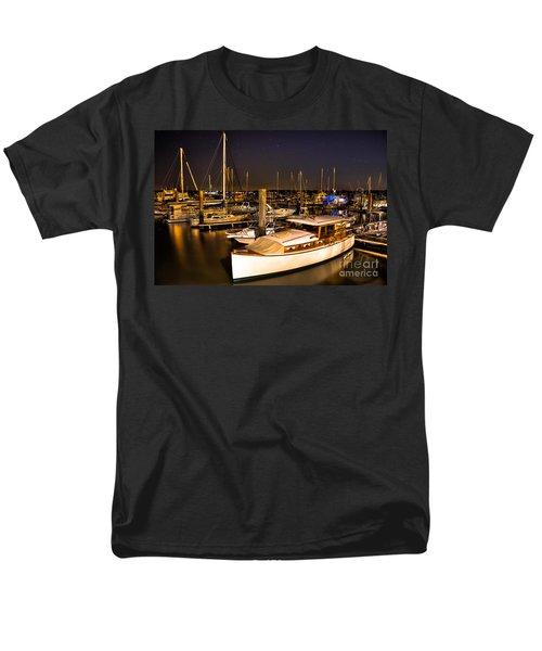 Beaufort SC Night Harbor T-Shirt by Reid Callaway