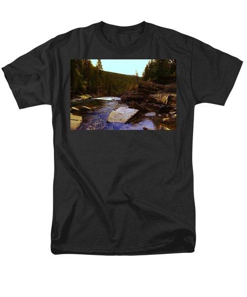 Beautiful Yak River Montana Men's T-Shirt  (Regular Fit) by Jeff Swan