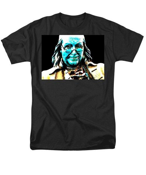 Benjamin Franklin - Historic Figure Pop Art By Sharon Cummings T-Shirt by Sharon Cummings
