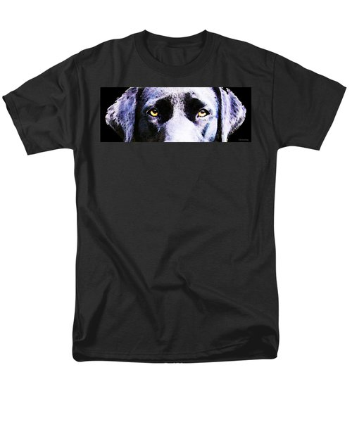 Black Labrador Retriever Dog Art - Lab Eyes T-Shirt by Sharon Cummings