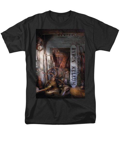 Black Smith - Byron Kellum Blacksmith T-Shirt by Mike Savad
