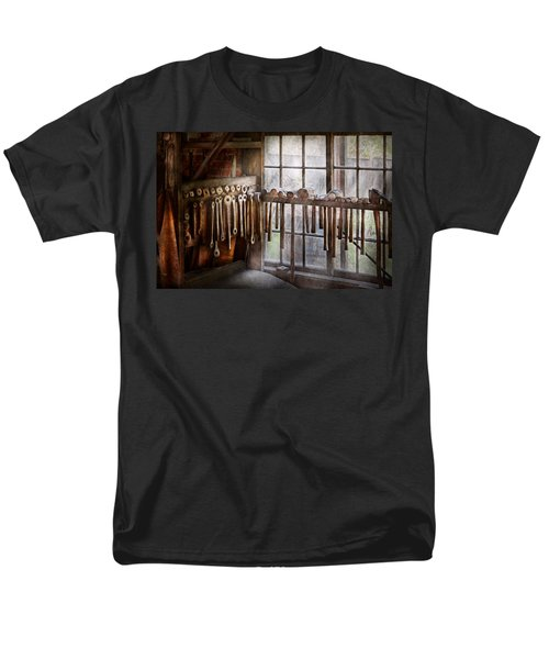 Black Smith - Draw plates and hammers  T-Shirt by Mike Savad