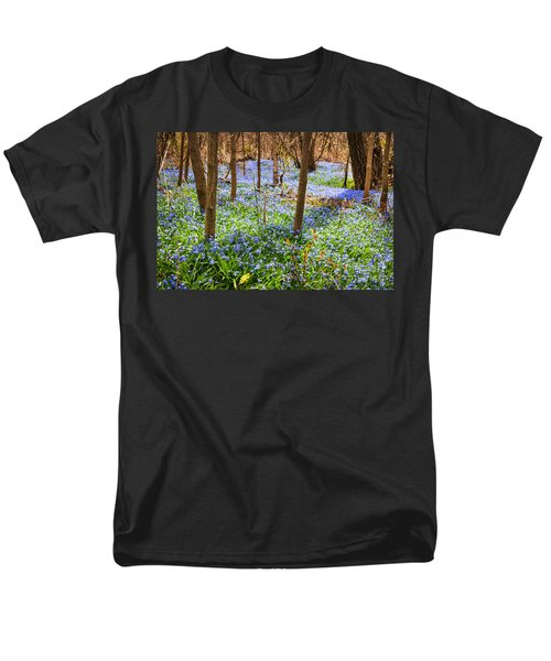 Blue flowers in spring forest T-Shirt by Elena Elisseeva