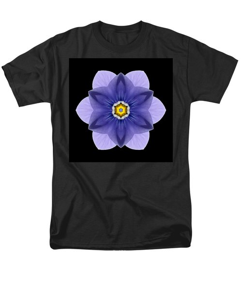 Blue Pansy I Flower Mandala T-Shirt by David J Bookbinder