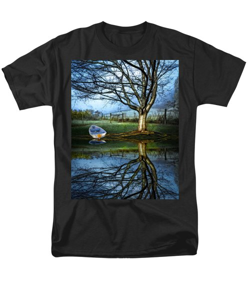 Boat on the Lake T-Shirt by Debra and Dave Vanderlaan
