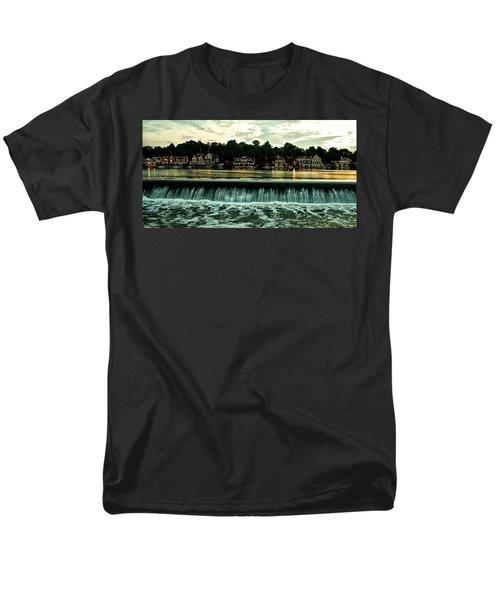 Boathouse Row and Fairmount Dam T-Shirt by Bill Cannon