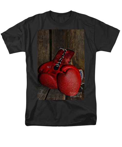Boxing Gloves Worn Out T-Shirt by Paul Ward