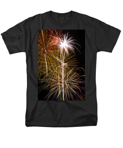 Bright bursts of fireworks T-Shirt by Garry Gay
