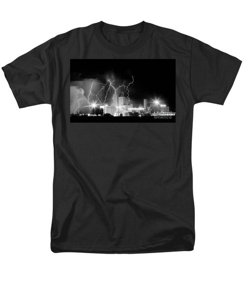 Budweiser Lightning Thunderstorm Moving Out BW Pano T-Shirt by James BO  Insogna