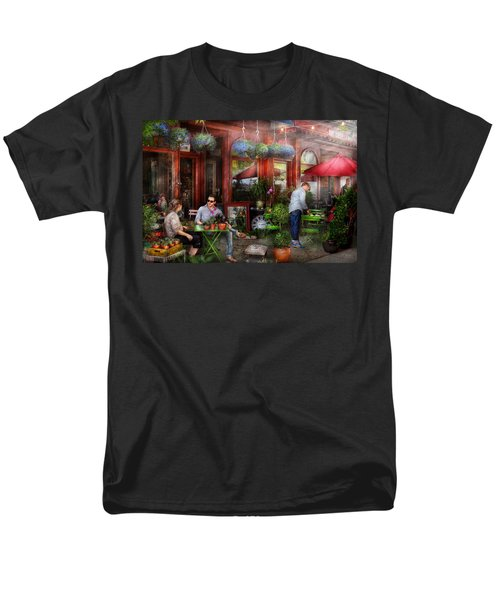 Cafe - Hoboken NJ - A day out  T-Shirt by Mike Savad