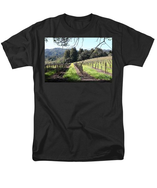 California Vineyards In Late Winter Just Before The Bloom 5D22053 T-Shirt by Wingsdomain Art and Photography