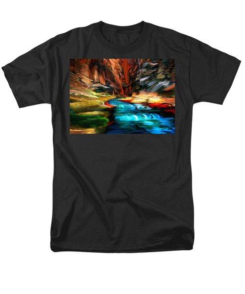 Canyon Waterfall Impressions T-Shirt by  Bob and Nadine Johnston