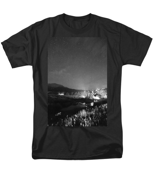 Chapel On the Rock Stary Night Portrait BW T-Shirt by James BO  Insogna