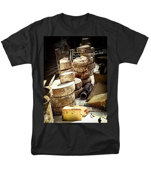 Cheeses on the market in France T-Shirt by Elena Elisseeva