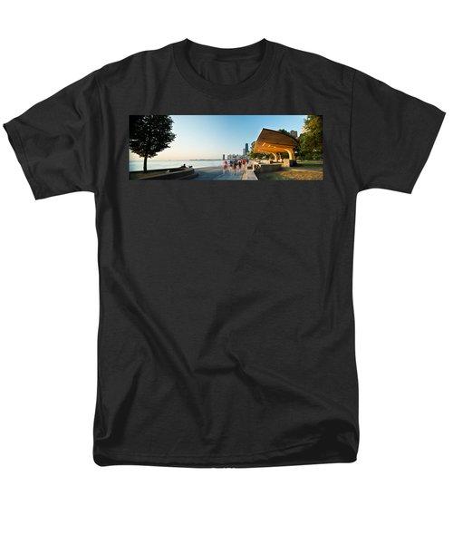 Chicago Lakefront Panorama Men's T-Shirt  (Regular Fit) by Steve Gadomski