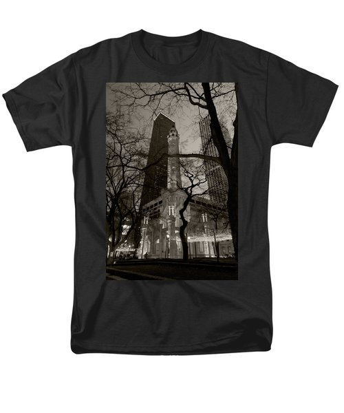 Chicago Water Tower B W T-Shirt by Steve Gadomski