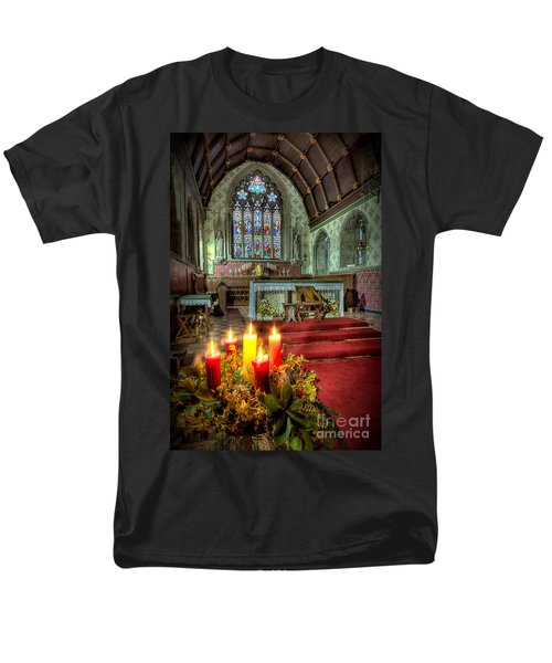 Christmas Candles T-Shirt by Adrian Evans