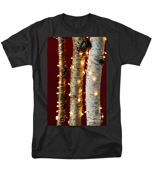 Christmas lights on birch branches T-Shirt by Elena Elisseeva