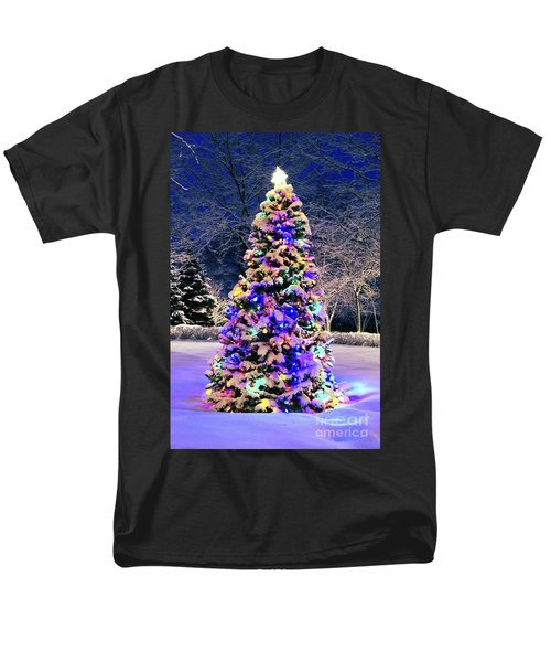 Christmas tree in snow T-Shirt by Elena Elisseeva