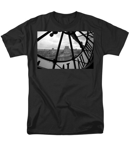 Clock At Musee D'orsay Men's T-Shirt  (Regular Fit) by Chevy Fleet