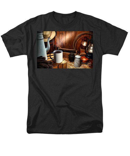 Coffee Break at the Chuck Wagon T-Shirt by Olivier Le Queinec