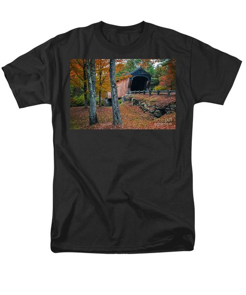 Corbin Covered Bridge Newport New Hampshire T-Shirt by Edward Fielding