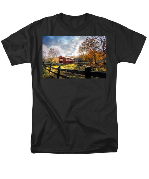 Country Covered Bridge T-Shirt by Debra and Dave Vanderlaan